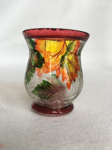 Harvest Autumn Leaves Small Tea Light Candle Votive