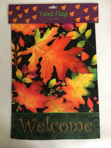 Harvest Autumn Leaves Yard Flag