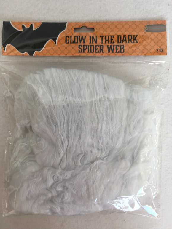 Halloween Glow In The Dark Spider Web