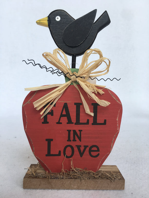 Harvest Fall in Love or Welcome Fall Wooden Block Sitter
