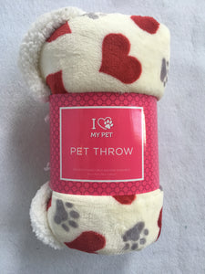 "Valentine ""I Love My Pet"" Pet Throw"