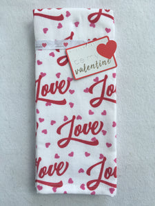 Valentine Love and Small Hearts Kitchen Towels