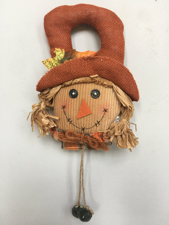 Harvest Girl Scarecrow Door Hanger