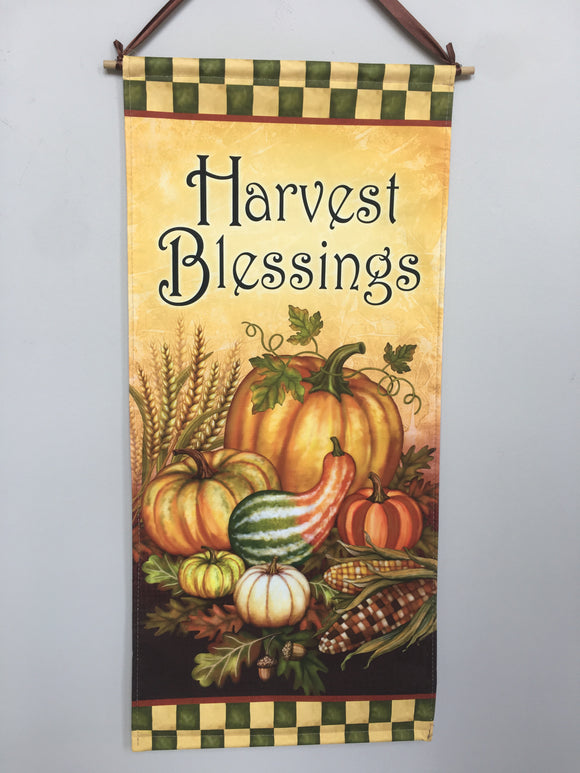 Harvest Blessing Dowel Rod Wall Hanging