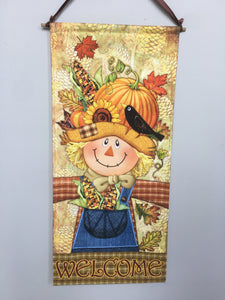 Harvest Boy Scarecrow Dowel Rod Wall Hanging