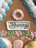 Easter Decorated Bunny House with Chick and Egg Ceramic Soap Dispenser