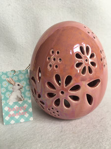 Easter Iridescent Light Up Ceramic Colorful Egg