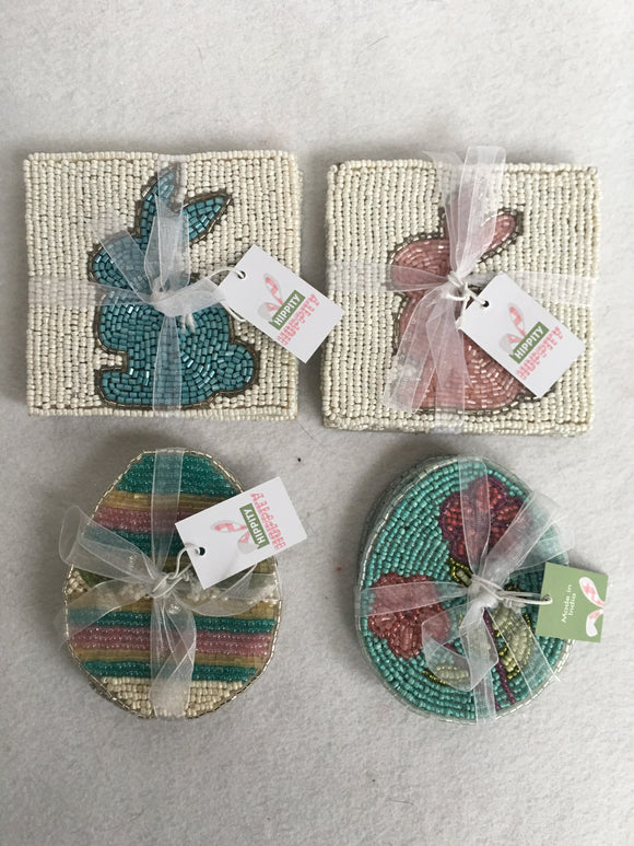 Easter Beaded Bunny or Egg Coasters