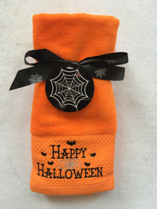 Halloween Haunted Home Happy Halloween Fingertip Towels