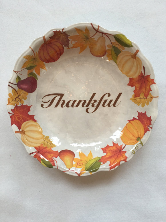 Harvest Melamine Thankful Large Bowl