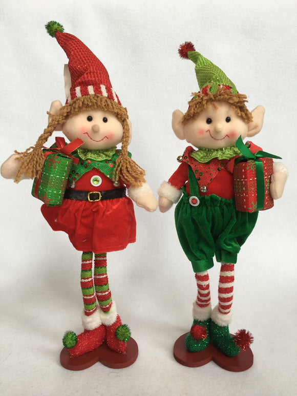 Christmas Standing Plush Girl or Boy Elf