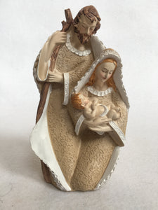 "Christmas 7.5"" Beige and White Nativity"