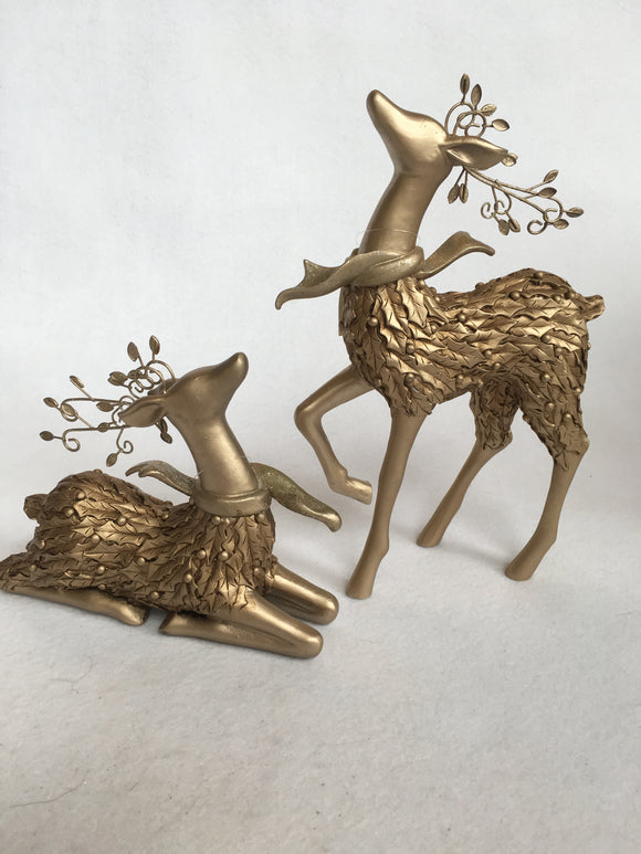 Christmas Gold Standing or Sitting Reindeer