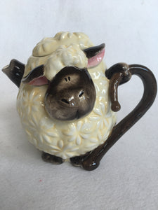 Easter Comical Lamb Ceramic Teapot