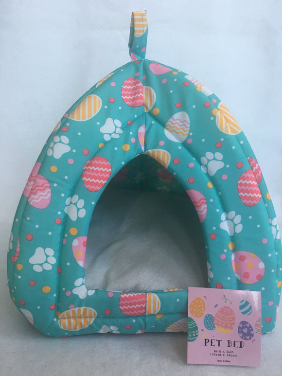 Easter Egg and Paw Prints Small Pet Bed Sack