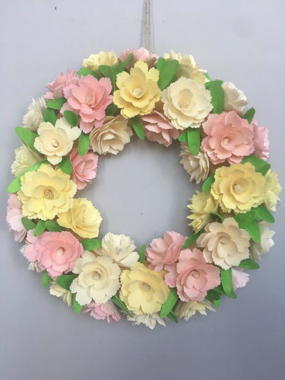 Easter Welcome Spring Rosetta Wreath