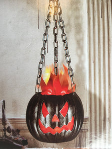 Clearance LED Flaming Jack-O-Lantern