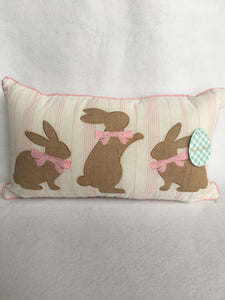 Easter 3 Bunnies Pillow