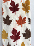 Clearance Autumn Leaves Blanket Throw