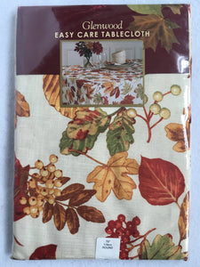 "Harvest Glenwood Easy Care 70"" Round Tablecloth"