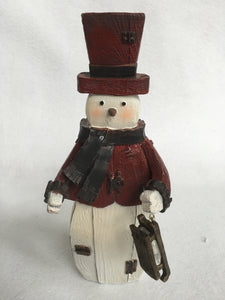 Christmas Rustic Santa, Snowman with Sled or Metal Arms