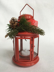 Christmas Medium Metal Tea Light Lantern
