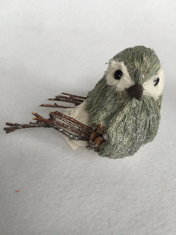 Christmas Glittered Sisal Chickadee