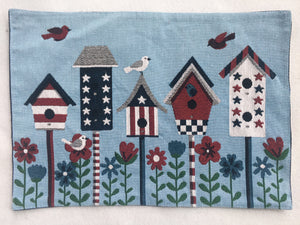 Patriotic Decorated Bird Houses Placemat