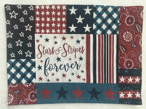 Patriotic Stars and Stripes Forever Placemat
