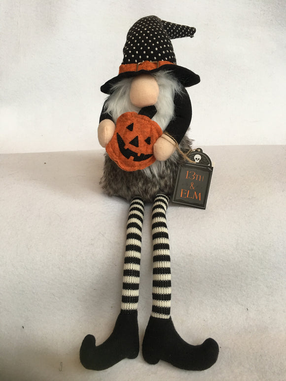 Halloween Sitting Plush Witch Gnome