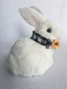 Easter White Sisal Bunny With Flower Collar