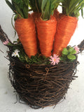 Easter Basket of Carrots Display