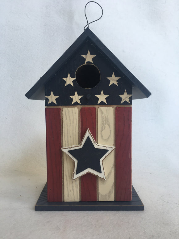 Patriotic Wood Bird House