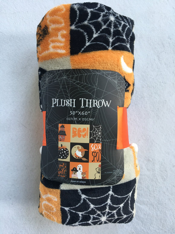 Halloween Multiple Pictures Blanket Throw