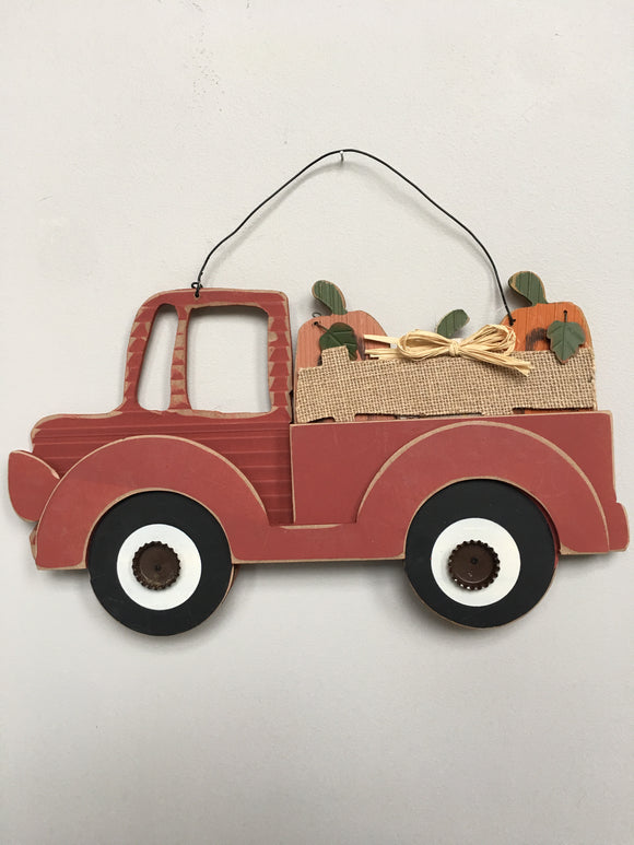 Harvest Truck Carrying Harvested Pumpkins Wall Hanging