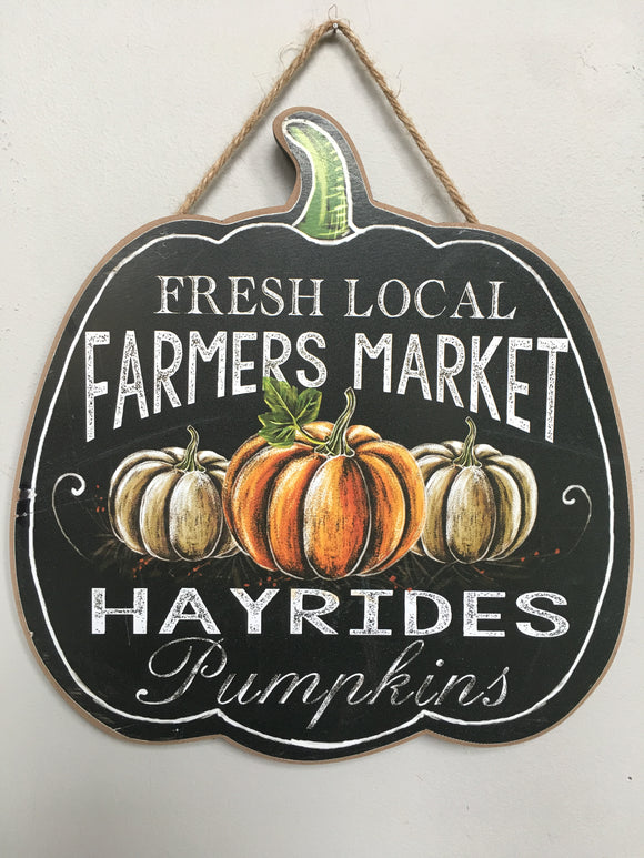 Harvest Local Fresh Farmers Market Hayrides Pumpkins Wall Hanging