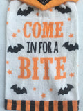 Halloween Come In For A Bite Kitchen Tie Towel