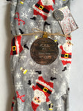 Christmas Mistletoe and Co. Dancing Santa and Candy Canes Throw Blanket