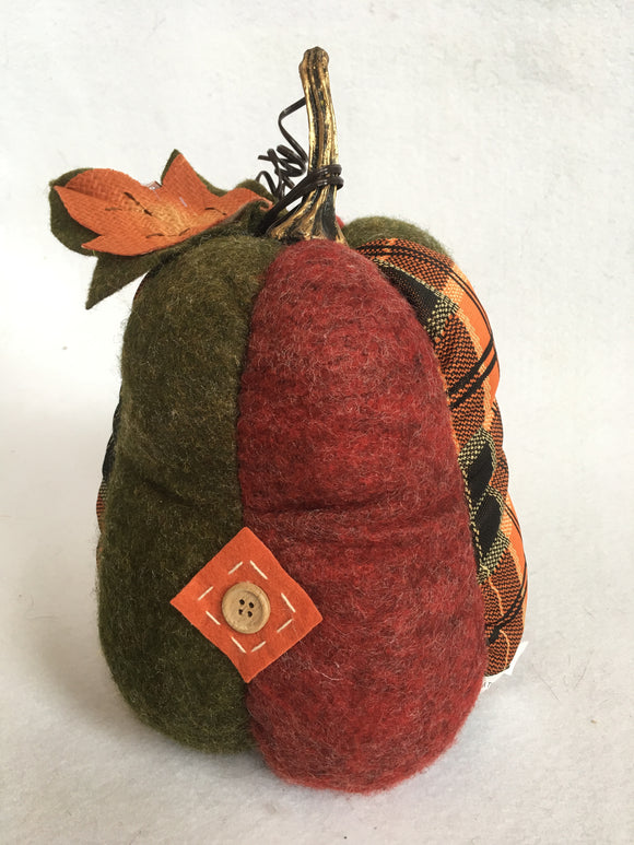 Harvest Plush Pear With Stem