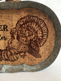 Harvest Gather Here Metal and Corkboard Pumpkin
