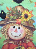 Harvest Girl Scarecrow Dowel Rod Wall Hanging