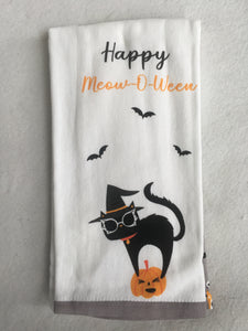Halloween Happy Meow-O-Ween Kitchen Set of Two Towels