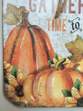 Harvest Fall Gathering Time to Gather Mason Jar Sign