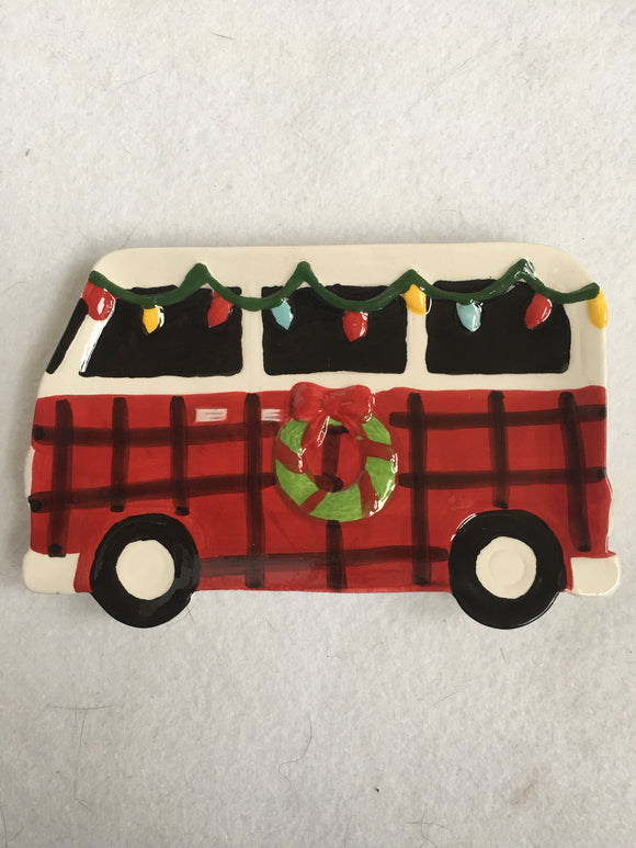 Christmas Red Motor Home Spoon Rest