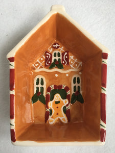 Christmas Gingerbread House Raised Sides Spoon Rest