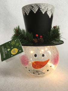 Christmas Light up Snowman with Hat