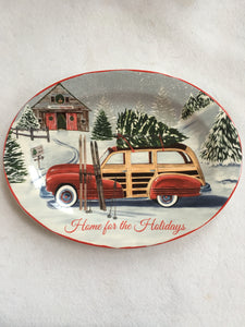 Christmas Home for the Holidays Ceramic Platter