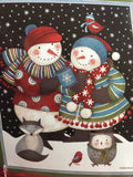 Christmas Debbie Mum Festive Snowmen Throw or Wall Hanging