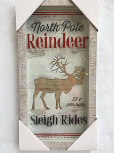 Christmas North Pole Reindeer Sleigh Rides 3D Picture