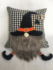 Halloween Gnome Pillow with Hanging Legs